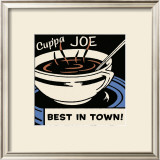 Cup'pa Joe Best in Town Posters