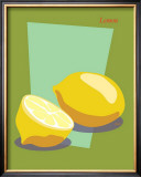 Lemon Framed Giclee Print by  ATOM