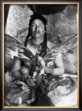 Placating the Spirit of a Slain Eagle, Assiniboin Poster by Edward S. Curtis