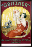 Gritzner Sewing Machine Framed Giclee Print