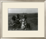 Overlooking the Camp Prints by Edward S. Curtis