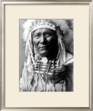 Nez Perc Head Dress Framed Giclee Print by Edward S. Curtis