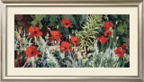 Fourth Studio Garden Poppies Print by Douglas Atwill