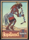 Santa Fe Railroad: Hopiland, c.1940's Prints by Don Perceval