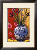 Irises in an Oriental Vase I Art by Curtis Kelly