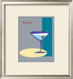 Martini in Grey Framed Giclee Print by  ATOM