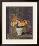 Zinnias And Marigolds Prints by Hermann Dudley Murphy