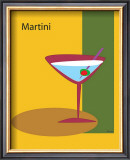 Martini in Yellow Framed Giclee Print by  ATOM