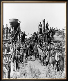 Transcontinental Railroad Completed Framed Photographic Print