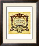 Pinot Noir Wine Label Framed Giclee Print