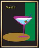 Martini in Black Framed Giclee Print by  ATOM