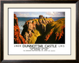 Dunnottar Castle, LNER &amp; LMS poster, 1939 Framed Giclee Print by James McIntosh Patrick