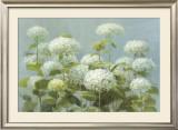 White Hydrangea Garden Posters by Danhui Nai