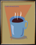 Cafe Americano Framed Giclee Print by  ATOM