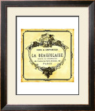 Beaujolaise Wine Label Framed Giclee Print