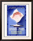 London to Paris Framed Giclee Print by Paolo Federico Garretto