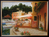 Morning Stroll in Portofino Poster by George W. Bates