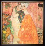 Freunddinnen Posters by Gustav Klimt