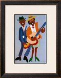 Blind Singer Art by William H. Johnson