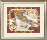 Wine Map of Italy Print