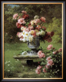 Peonies in a Wild Garden Prints by Louis-Marie Lemaire