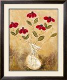Five Red Flowers Prints by Viola Lee