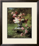 Peonies in a Wild Garden Posters by Louis-Marie Lemaire