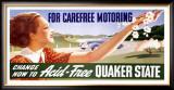Quaker State Motor Oil Framed Giclee Print by Sascha Maurer