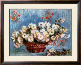 Chrysanthemums, c.1878 Poster by Claude Monet