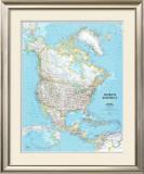 North America Political Map Prints