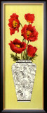 Chinois Poppy Poster by Judy Shelby