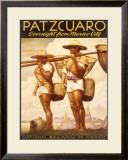 Patzcuaro Mexico Railway Framed Giclee Print