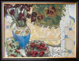 White Wicker and Strawberries Prints by Mary Mark