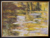 Waterlily Pond and Japanese Bridge Posters by Claude Monet