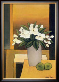 White Flowers III Print by Hans Paus