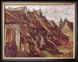 Farmhouses Print by Vincent van Gogh