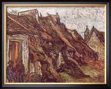Farmhouses Print by Vincent van Gogh