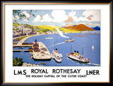 Royal Rothesay, the Holiday Capital of the Clyde Framed Giclee Print by Cecil King