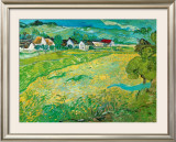 Sunny Meadow in Arles, c.1890 Art by Vincent van Gogh