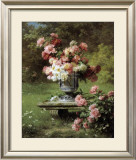 Peonies in a Wild Garden Poster by Louis-Marie Lemaire