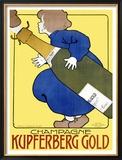 Champagne Kupferberg Gold Framed Giclee Print by M. Huber