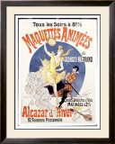 Maquettes Animees Framed Giclee Print by Jules Chéret