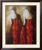 Ladies in Red Prints by Roel Hofman
