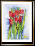 Red Tulips Art by Witka Kova