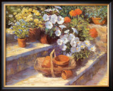 Trugs, Pots and White Flowers Prints by Jackie Simmonds