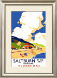 Saltburn-By-The-Sea, LNER Poster, 1923-1947 Framed Giclee Print by Frank Newbould