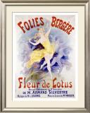 Fleur de Lotus, Folies Bergere Framed Giclee Print by Jules Chéret