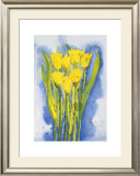 Yellow Tulips Print by Witka Kova
