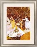 Femmes Dans un Jardin Prints by Claude Monet