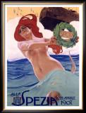 Spezia Framed Giclee Print by Leopoldo Metlicovitz